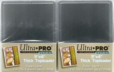 Ultra Pro Thick Top Loaders 55pt Toploaders 2 Packs 25 [ Lot 50 ] 76mm x 102mm