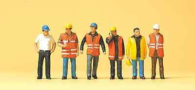 Preiser 10420 Workers in Safety Vests (Pk6) HO Gauge Figures