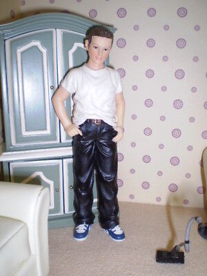 Dolls house figure, 1/12th scale poly/resin young man -Bradley