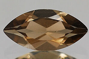 A PAIR OF 14x7mm MARQUISE-FACET NATURAL BRAZILIAN SMOKEY QUARTZ GEMSTONE £1 NR!