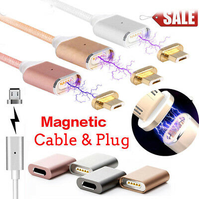 Magnetic Adapter Charger 2.4A Micro USB Charging Cable For Android Samsung LOT