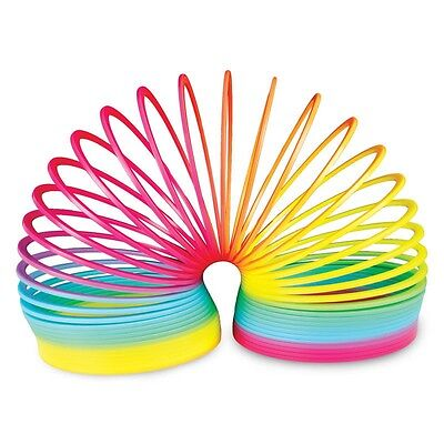 New Rainbow Springy Slinky Walks Down Stairs 10Cm Traditional Retro Toy Tobar
