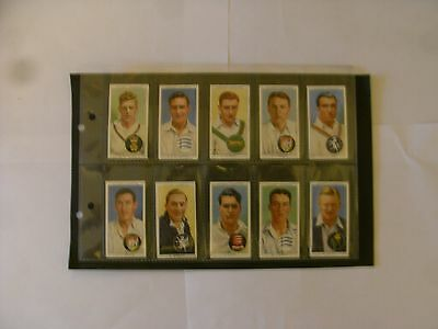 Full Set x 50 Players Cigarette Cards. + Sleeves. Cricketers  1938.
