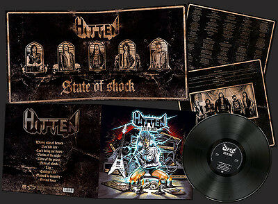 HITTEN- State Of Shock LIM. 150 BLACK VINYL power metal LP ala NWoBHM meets ENFO