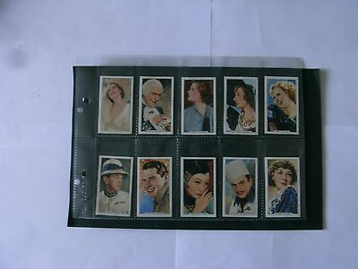 Full Set x 48 Gallaher Cigaette Cards + Sleeves. Portraits of Famous Stars.1935.