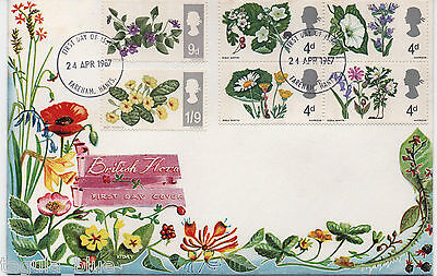 """1967 """"British Wild Flowers"""" First Day Cover - PHOSPHOR issue"""