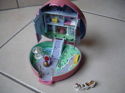 polly pocket Chateau Coeur rose castle Bluebird 1992