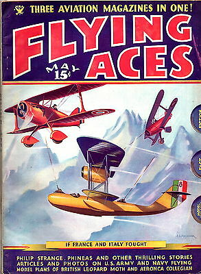 FLYING ACES:U.S. Edition May 1935-Classic American Aviation Adventure Pulp