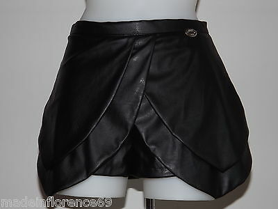 DENNY ROSE SHORT ECO-LEATHER BLACK Tg 40 42 44 SKIRT TROUSERS 51DR2102 short