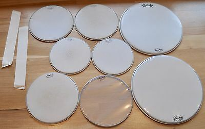 "VINTAGE Ludwig Drum Heads ~ 12/14/20/14 ~ Early 1960's ""Ringo"" Down Beat kit"