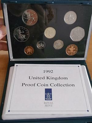 Great Britain 1992 Proof Set With Coa And Box    X1080