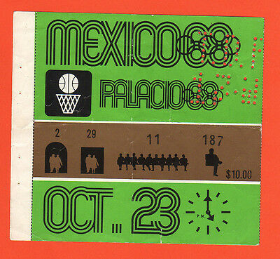 Orig.Ticket    Olympische Spiele MEXICO 1968 - Basketball 23.10.1968  !!   TOP