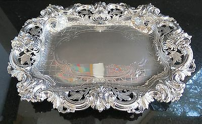 Fantastic ornate large Bailey Banks Biddle sterling silver tray # 2201