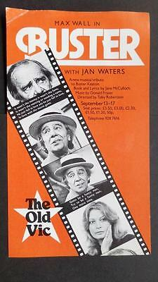 Flyer Max Wall in Buster Buster Keaton musical Jan Waters c1977