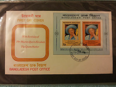 COLLECTION OF 36 FIRST DAY COVERS 80th BIRTHDAY QUEEN ELIZABETH THE QUEEN MOTHER