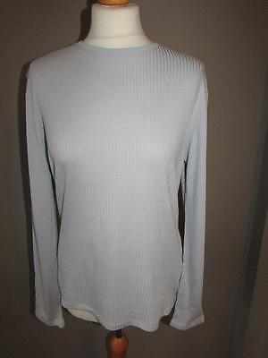 DAMART THERMOLACTYL Grey Silk Blend Ribbed Thermal Vest Base Layer Top Size M