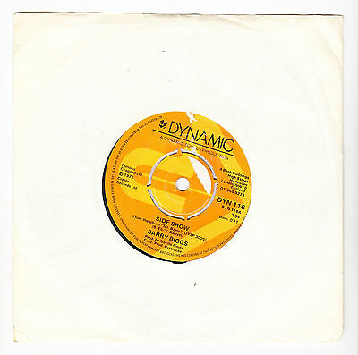 """BARRY BIGGS - Side Show / I'll Be Back - 1976 UK Dynamic Sounds 7"""" Single"""