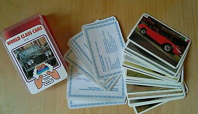 Vintage Dubreq Top Trumps Card Game - World Class Cars (Series 2) Good Condition