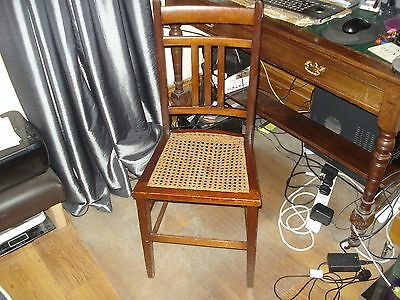 antique chair small rattan seat Edwardian ladys dressing bedroom