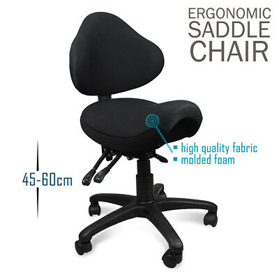 Ergonomic Office Saddle Seat Stool. Executive Tattoo Salon Chair - SAVE $170