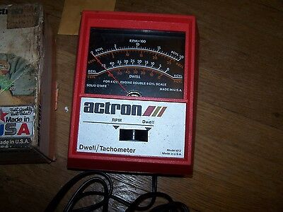 Actron Dwell / Tachometer Model 612 With Box  6' Probes
