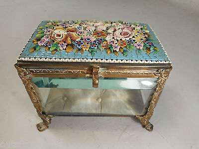 Antique French Micro Mosaic Glass Box , Casket   ref 1676