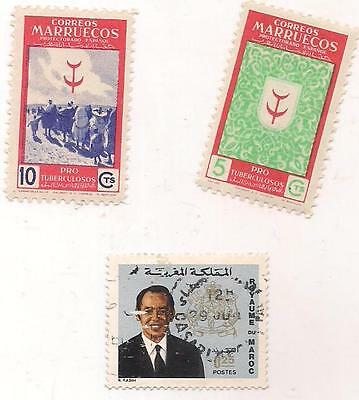 3 MOROCCO stamps.