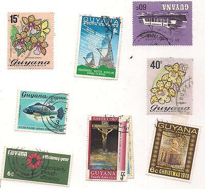 8 GUYANA used stamps.