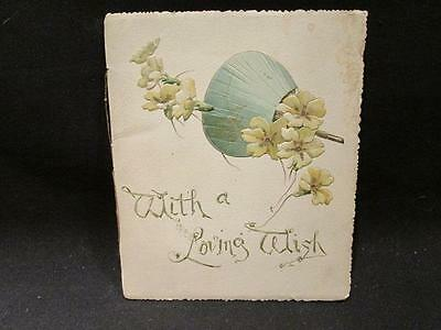 Ernest Nister With a Loving Wish Vintage Inspirational Booklet