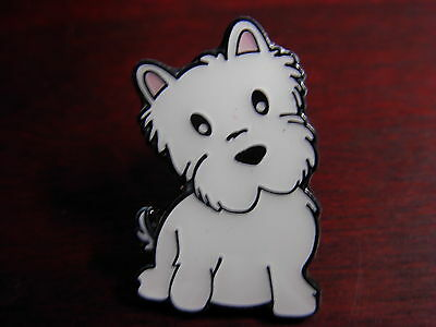 Westie Puppy dog pin badge. Nice lapel badge, West Highland terrier