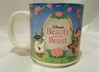 Beauty And The Beast Mug Disney Collectible Ceramic Coffee  Cup - Vintage