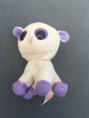 """TY Basket Beanies Collection Lily the Lamb Boo 3"""" Rare 2011 Retired seam tag onl"""