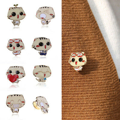Fashion Women Jewelry Funny Cat Cartoon Brooch Pin Cute Brooches Decor Gifts Hot