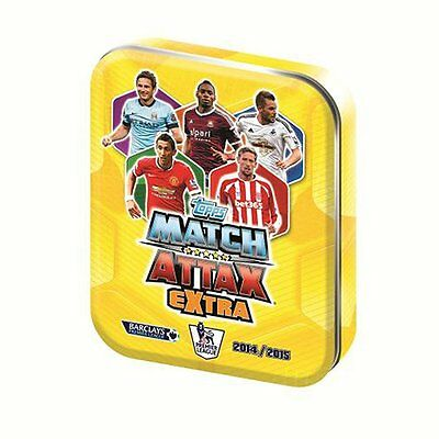 NEW! Match Attax Extra 14/15 2014 2015 Trading Card Collectors Tin + 50 Cards