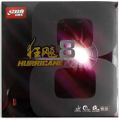 DHS Hurricane 8 Hurricane-8 Pips-In Table Tennis Ping Pong Rubber with sponge