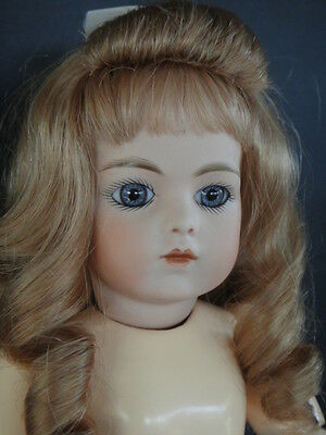 "Antique French Bisque BRU Reproduction doll. 14"". Made in France by G. BRAVOT"