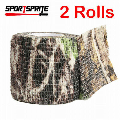2X Combat Army Camo Gun Form Wrap Rifle Shooting Hunting Camouflage Stealth Tape