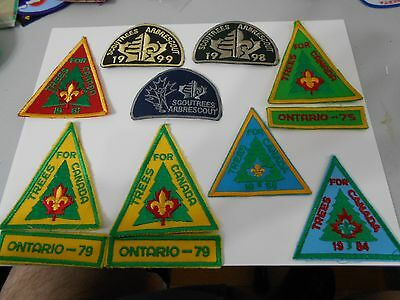 (Nr2-R) Thirteen  Canadian Trees For Canada Scout Badges