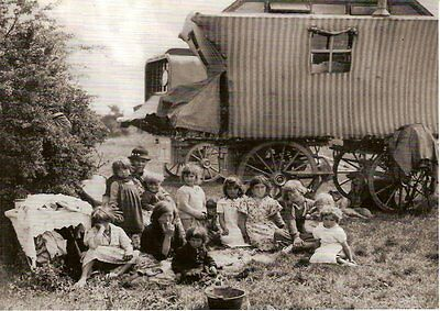 8 postcards traditional Romani Gypsy Traveller scenes Epsom 1863-1936