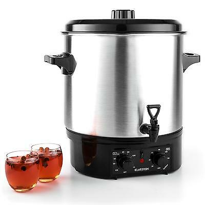27 L Water Boiler Catering Urn Coffee Tea Slow Cooker Party Food Timer Tap Steel