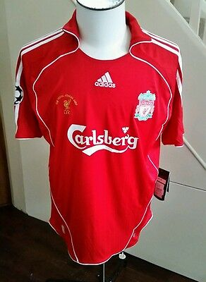 Champions League Final Athens 2007 Liverpool home shirt size L jersey genuine