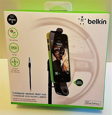 BELKIN TuneBase Hands-Free Aux  Car Charger Holder For iPhone 5/5S/SE/6/7