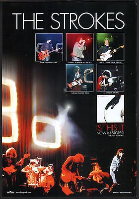 2002 The Strokes photo Is This It JAPAN album promo ad / mini poster advert s4r