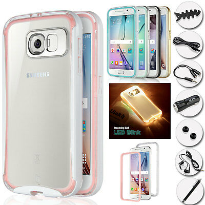 huge selection of f9313 1e712 SAMSUNG GALAXYS6 LED Case Flash Light Up Shockproof Rubber Defender Bumper  Cover