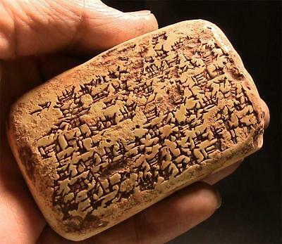 "PERSIAN BABYLONIAN ""BEER"" TABLET Cuneiform 494BC Silver For Beer ancient replica"