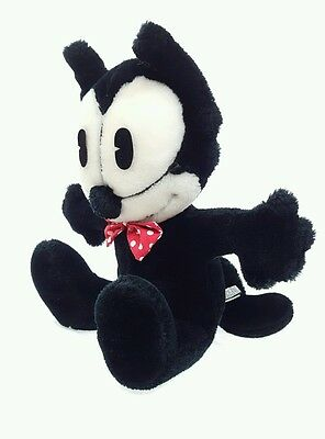 Felix The Cat 1982 Black Fur Red Polka Dot Bow Tie Stuff Animal Toy Plush