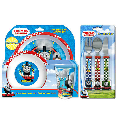 Thomas and Friends Racing 6 Piece Tableware Set - Dinner Set & Cutlery *NEW
