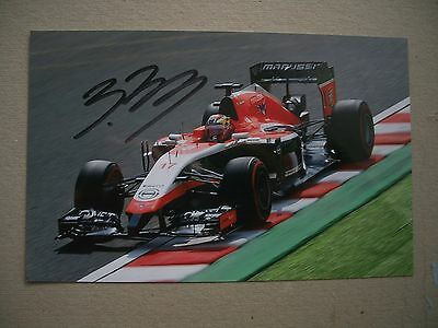 Jules Bianchi Hand Signed Marussia F1 Team Photograph