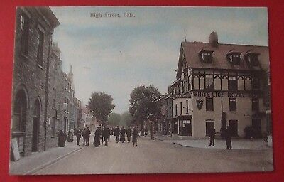 H.EVANS Postcard c.1910 HIGH STREET BALA MERIONETHSHIRE WALES