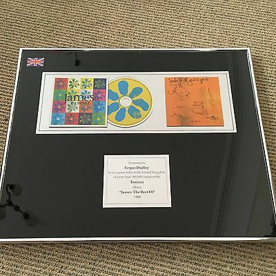 James - The Best Of - Rare Presentation Disc for 300'000 sales w/ SIGNED booklet